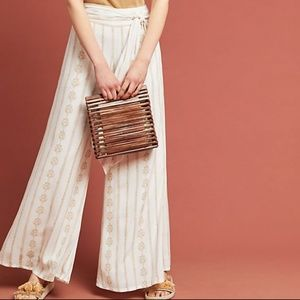Anthropologie Tie-Front Trousers